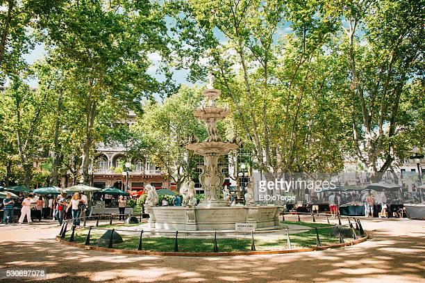 image of plaza matriz, montevideo, uruguay - montevideo stock pictures, royalty-free photos & images