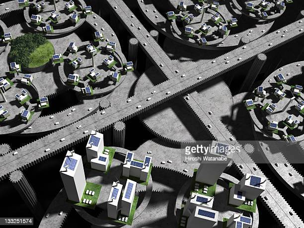Image of smart grid using renewable energy