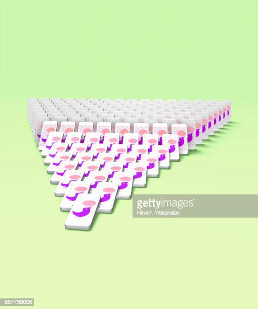 sns image of smartphone domino with tweeting sign - online messaging stock pictures, royalty-free photos & images
