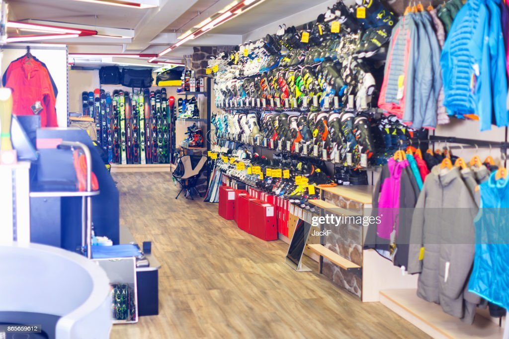 装備のスポーツ店のイメージ : ストックフォト