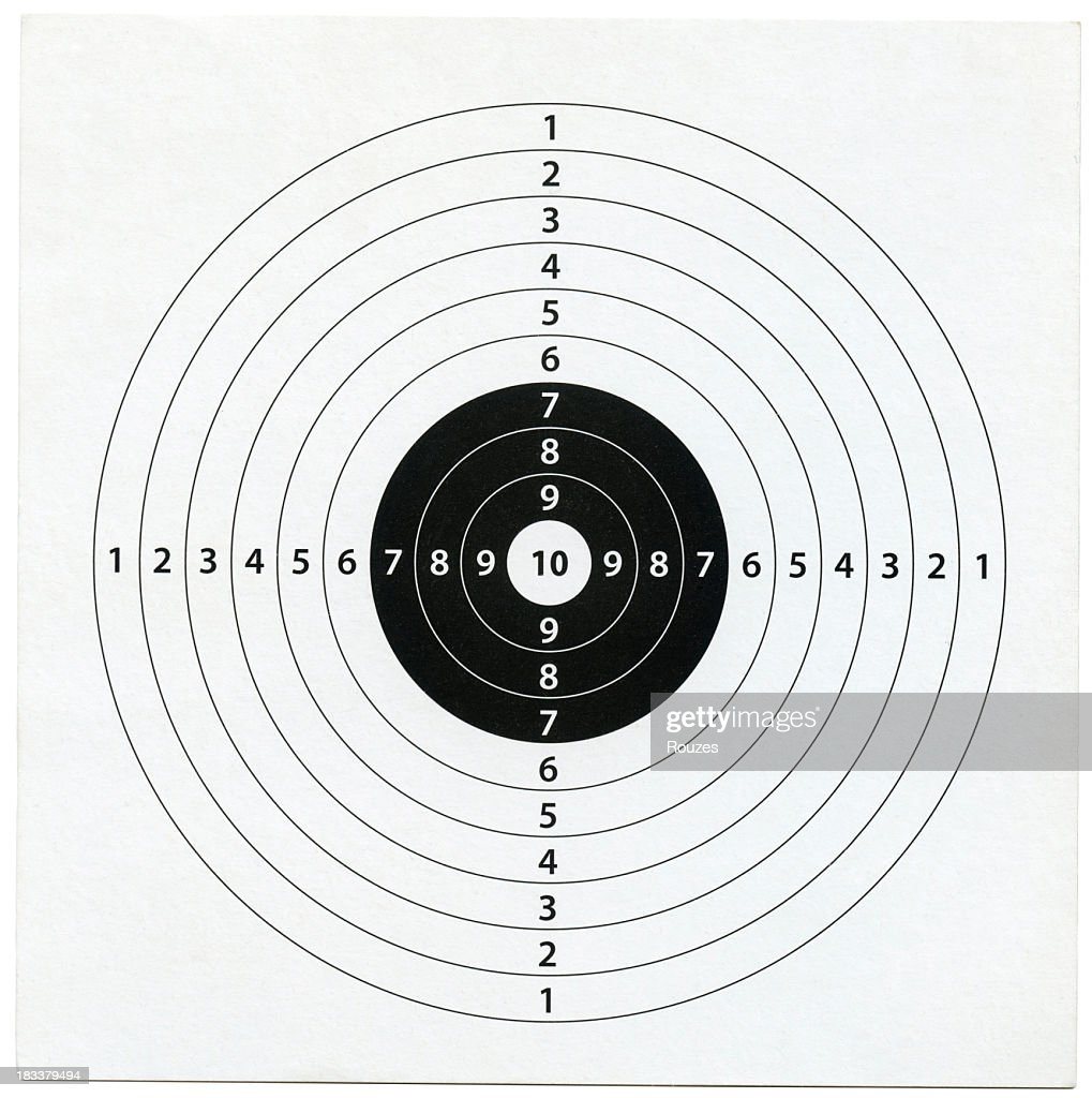 Image of target with 10 radial layers : Stock Photo
