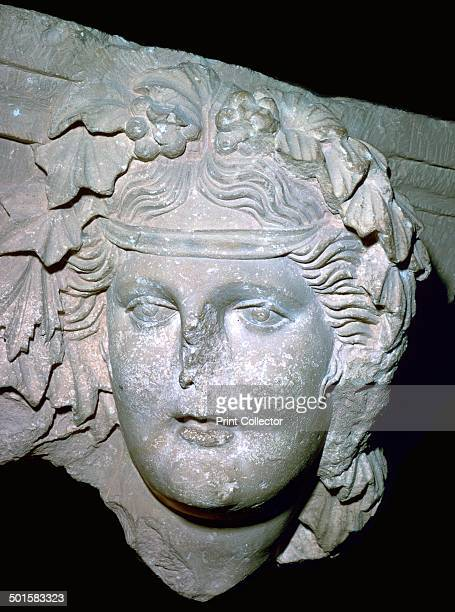 Image of the Nabatean God Dushares the equivalent of Dionysus 1st century