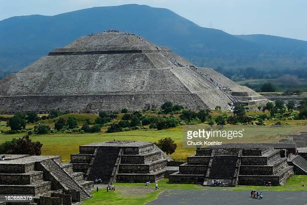 CONTENT] Image of the Pyramid of the Sun at the Teotihuacan archaeological site in Mexico Image of the Piramide del Sol was taken from atop the...