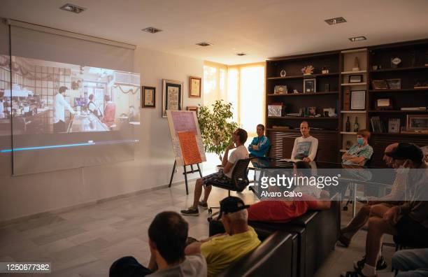 Image of the short film screenings organized by the Huesca international film festival at the Valentia residence a nonprofit association where people...