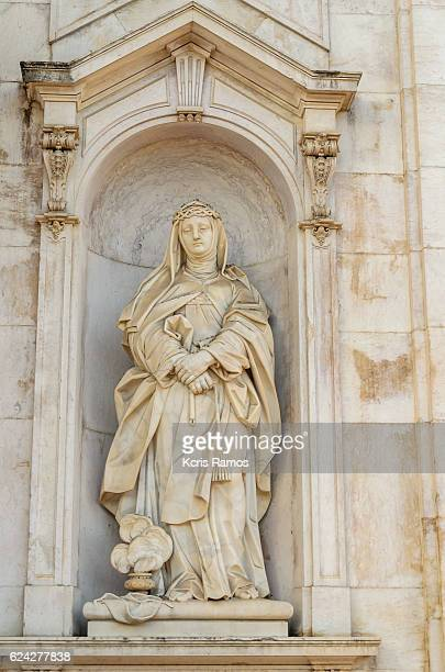 Image of the Virgin Mary in the basilica of the star in Lisbon Portugal