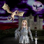 https://www.istockphoto.com/photo/3d-image-of-the-warrior-princess-dragon-slayer-gm927619838-254460571
