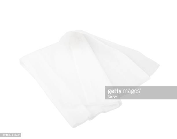 image of wet antibacterial wipes isolated on white background - wet wipe stock pictures, royalty-free photos & images