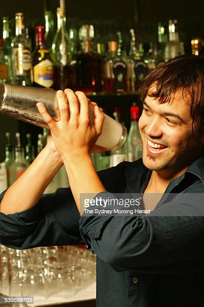 Image photographed at the Bayswater Brasserie barman Naren Young 4 March 2005 SMH Picture by STEPHEN BACCON