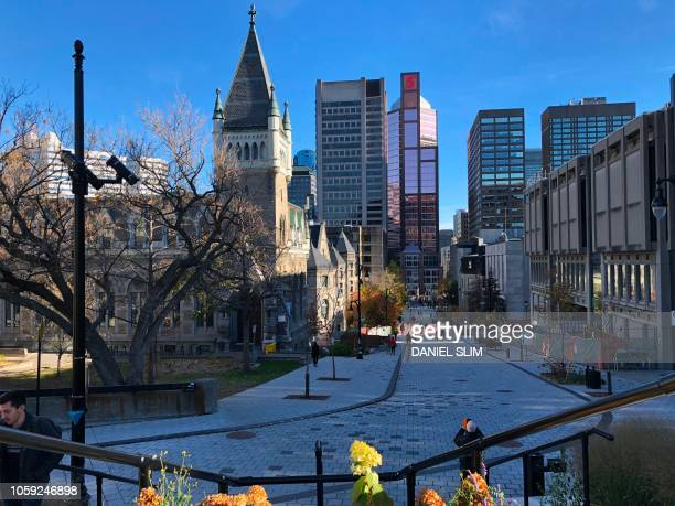 Image showing the main campus of McGill University on November 4 2018 McGill University was established in 1821 at Mount Royal in downtown Montreal