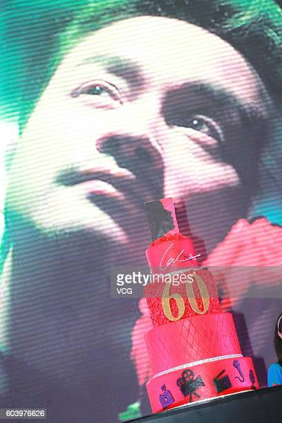 Image shows a memorial event for deceased singer Leslie Cheung's 60th birthday at Central Harbourfront Event Space on September 12 2016 in Hong Kong...