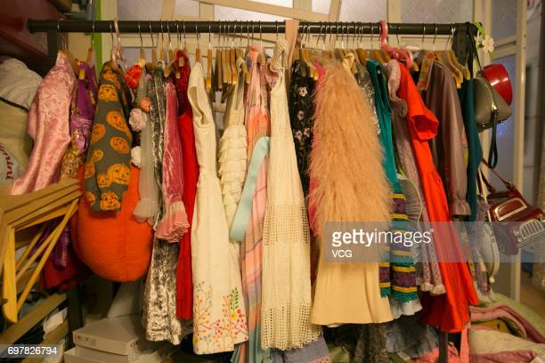 Image shows Man Tou's clothes made by her stayathome father Qian Xiaofeng on June 15 2017 in Shanghai China Stayathome father Qian Xiaofeng makes...