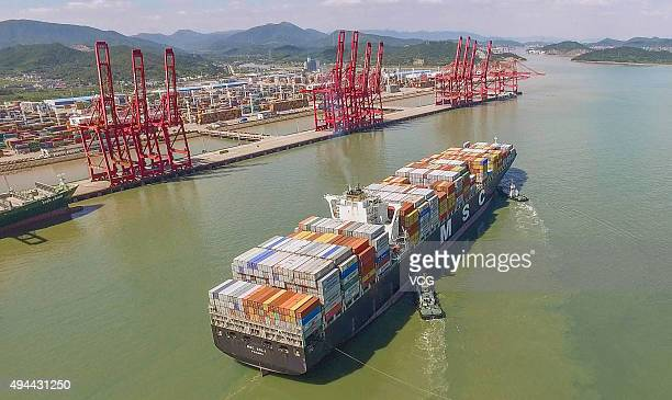 Image shows Ningbo Port before consolidation on September 10 2015 in Ningbo Zhejiang Province of China It's said that the Ningbozhoushan Port will be...