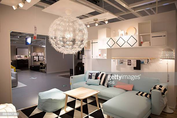 Image shows the interior layout of the IKEA store at Financial Hightech C Zone on August 22 2016 in Foshan Guangdong Province of China With a total...