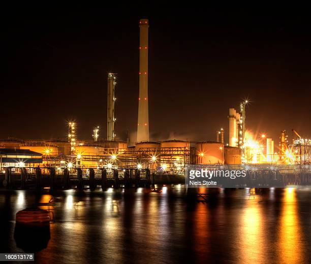 Image vertorama of Europe's biggest oil refinery It's owned by Royal Dutch Shell Photo was taken in the port of Rotterdam the Netherlands