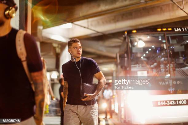 Image was altered with digital filters Manchester City's Ederson Moraes arrives at the Nissan Stadium prior to the match on July 29 2017 in Nashville...