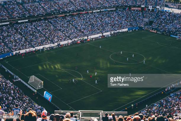 Image was altered with digital filters Manchester City's in action at Nissan Stadium on July 29 2017 in Nashville Tennessee