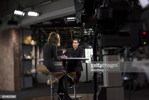 Image was created using a variable planed lens Kayvon Beykpour cofounder and chief executive officer of Periscope speaks during a Bloomberg West...