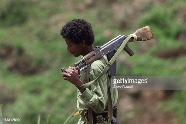 IMAGEAn Eritreans set out on patrol in the valley south of the town of Adi Qala in the southern portion of Eritrea near the border with Ethopia With...