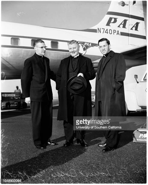 1 images Arrival from Sydney Australia 3 April 1957 The most Reverend Romolo Carboni Father Louis BossiFather Michael Cecere Supplementary material...