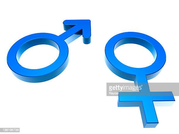 Images for male and female genders in blue