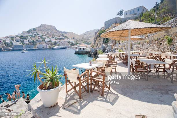 Images from small paradise Hydra island Greece
