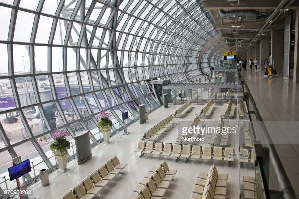 Images from the area of the gates in Suvarnabhumi airport or the New Bangkok International airport that is the largest of the two international...