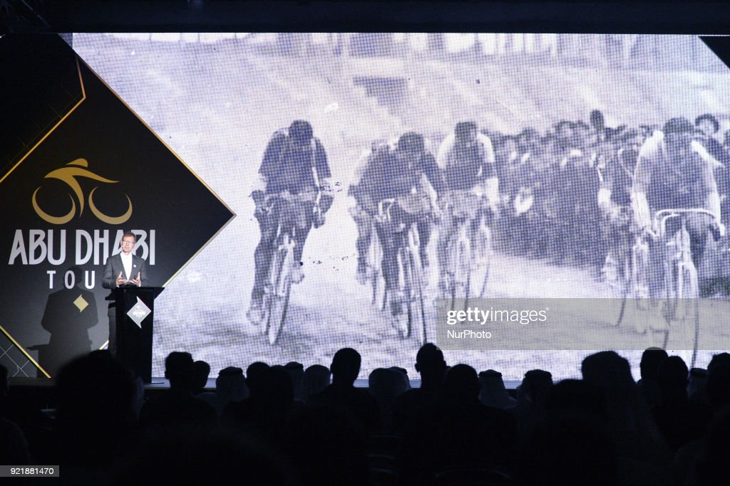 Images from the team presentation and the Opening Ceremony of the Abu Dhabi Tour 2018 at the Viceroy Hotel. On Tuesday, February 20, 2018, in the Viceroy Hotel, Abu Dhabi, United Arab Emirates.