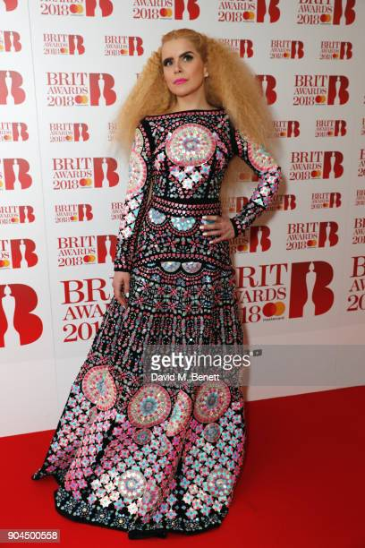 Images from this event are only to be used in relation to this event Paloma Faith attends the BRIT Awards 2018 nominations at ITV Studios on January...
