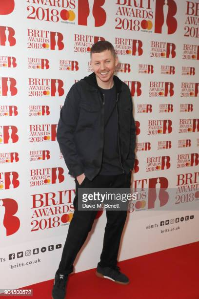 Images from this event are only to be used in relation to this event Professor Green attends the BRIT Awards 2018 nominations at ITV Studios on...