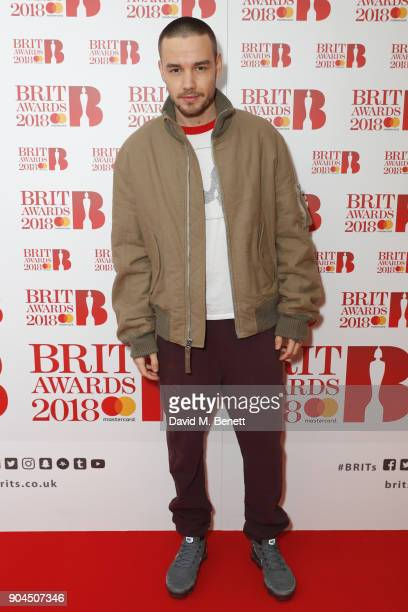 Images from this event are only to be used in relation to this event Liam Payne attends the BRIT Awards 2018 nominations at ITV Studios on January 13...
