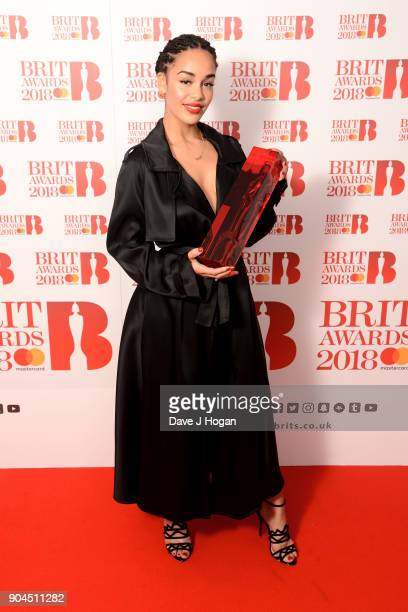 EDITOR'S NOTE Images from this event are only to be used in relation to this event CriticsÕ Choice Award winner Jorja Smith attends The BRIT Awards...
