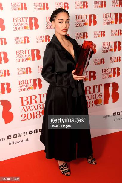 Images from this event are only to be used in relation to this event CriticsÕ Choice Award winner Jorja Smith attends The BRIT Awards 2018...