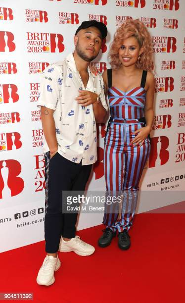 Images from this event are only to be used in relation to this event Jax Jones and Raye attend the BRIT Awards 2018 nominations at ITV Studios on...
