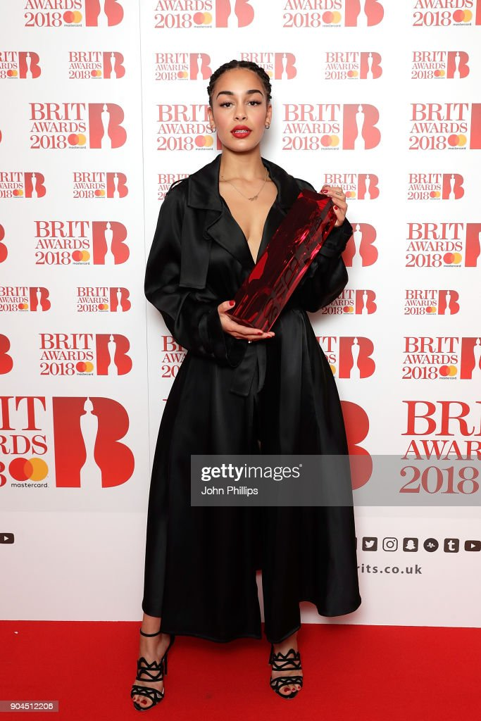Images from this event are only to be used in relation to this event. Jorja Smith attends The BRIT Awards 2018 nominations photocall held at ITV Studios on January 13, 2018 in London, England.