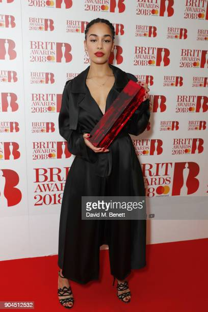 Images from this event are only to be used in relation to this event Jorja Smith attends the BRIT Awards 2018 nominations at ITV Studios on January...