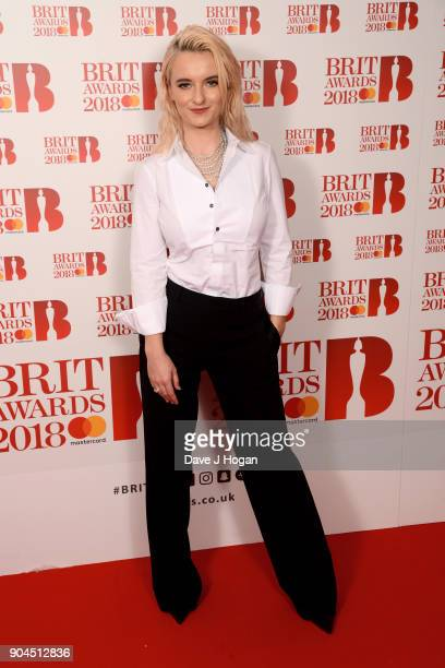 Images from this event are only to be used in relation to this event Grace Chatto of Clean Bandit attends The BRIT Awards 2018 nominations photocall...