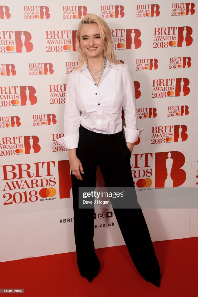 Images from this event are only to be used in relation to this event. Grace Chatto of Clean Bandit attends The BRIT Awards 2018 nominations photocall held at ITV Studios on January 13, 2018 in London, England.