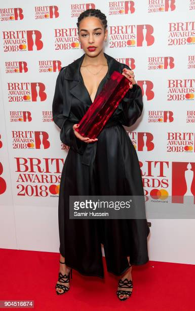 Images from this event are only to be used in relation to this event Jorja Smith attends The BRIT Awards 2018 nominations photocall held at ITV...