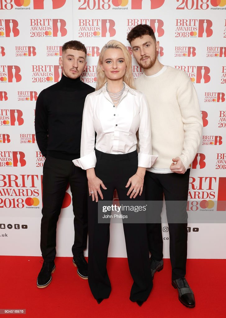 Images from this event are only to be used in relation to this event. Clean Bandit attend The BRIT Awards 2018 nominations photocall held at ITV Studios on January 13, 2018 in London, England.