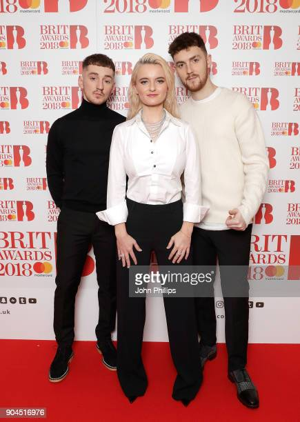 Images from this event are only to be used in relation to this event Clean Bandit attend The BRIT Awards 2018 nominations photocall held at ITV...
