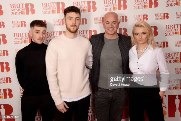 Images from this event are only to be used in relation to this event Luke Patterson Jack Patterson of Clean Bandit producer Steve Mac and Grace...