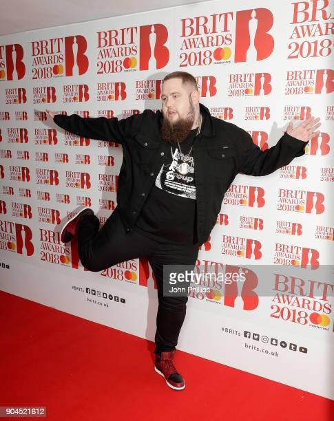 Images from this event are only to be used in relation to this event Rag'n'Bone Man attends The BRIT Awards 2018 nominations photocall held at ITV...