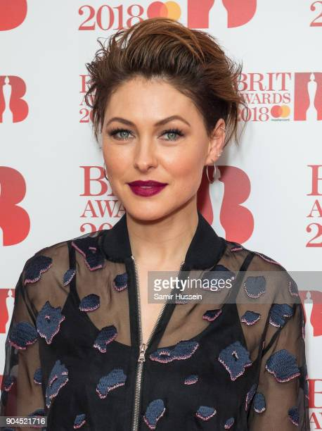 Images from this event are only to be used in relation to this event Emma Willis attends The BRIT Awards 2018 nominations photocall held at ITV...