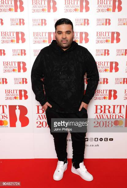 Images from this event are only to be used in relation to this event Naughty Boy attends The BRIT Awards 2018 nominations photocall held at ITV...