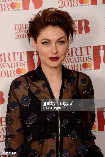 Images from this event are only to be used in relation to this event Host Emma Willis attends The BRIT Awards 2018 nominations photocall held at ITV...