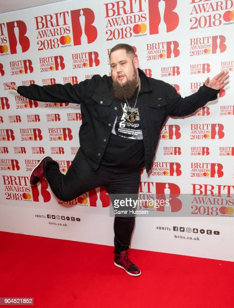Images from this event are only to be used in relation to this event Rag 'n' Bone Man attends The BRIT Awards 2018 nominations photocall held at ITV...