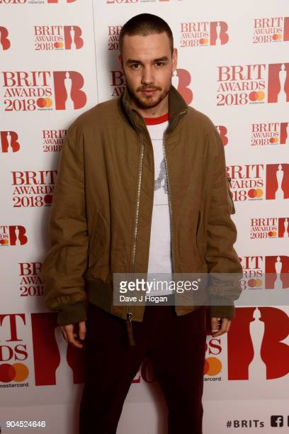 Images from this event are only to be used in relation to this event Liam Payne attends The BRIT Awards 2018 nominations photocall held at ITV...