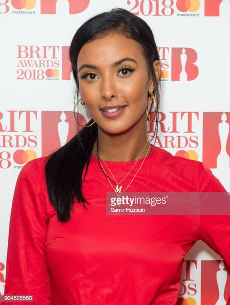Images from this event are only to be used in relation to this event Maya Jama attends The BRIT Awards 2018 nominations photocall held at ITV Studios...