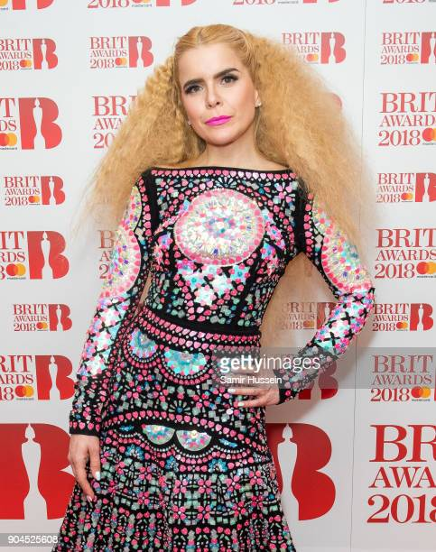 Images from this event are only to be used in relation to this event Paloma Faith attends The BRIT Awards 2018 nominations photocall held at ITV...
