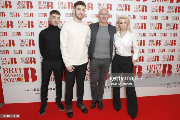 Images from this event are only to be used in relation to this event Jack Patterson Grace Chatto Steve Mac and Luke Patterson attend the BRIT Awards...